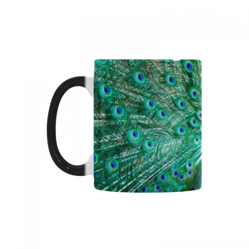 Interestprint Peacock Animal Birds Morphing Mug Heat Sensitive Color