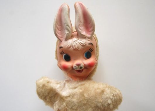 Vintage Rubber Face Toy - MY TOY Rabbit