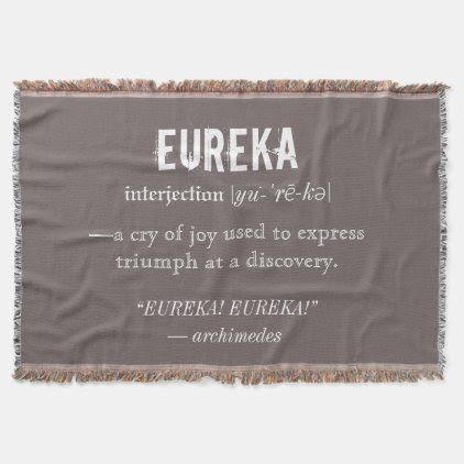 Eureka Definition Archimedes Greek Nerd Fraternity Throw Blanket
