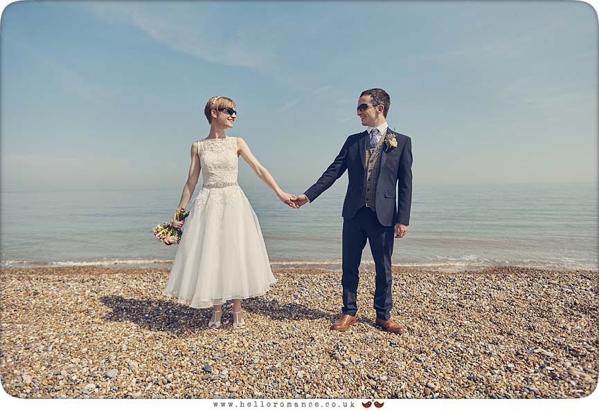 Dunwich beach wedding photos - www.helloromance.co.uk