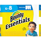 Bounty Essentials Select-A-Size Paper Towels, 2-Ply, White - 6 big rolls