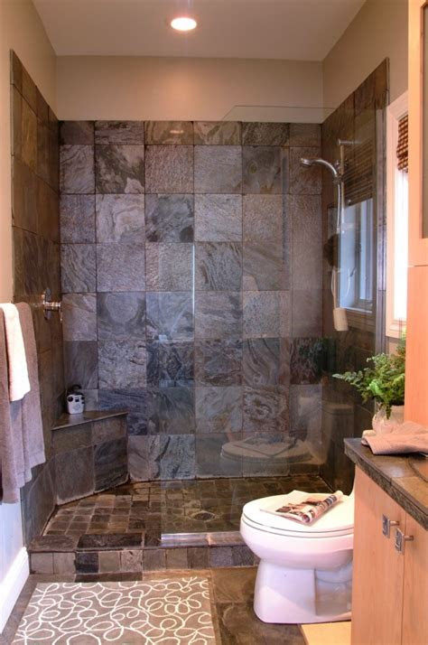 bathroom ideas  doorless walk  shower  small