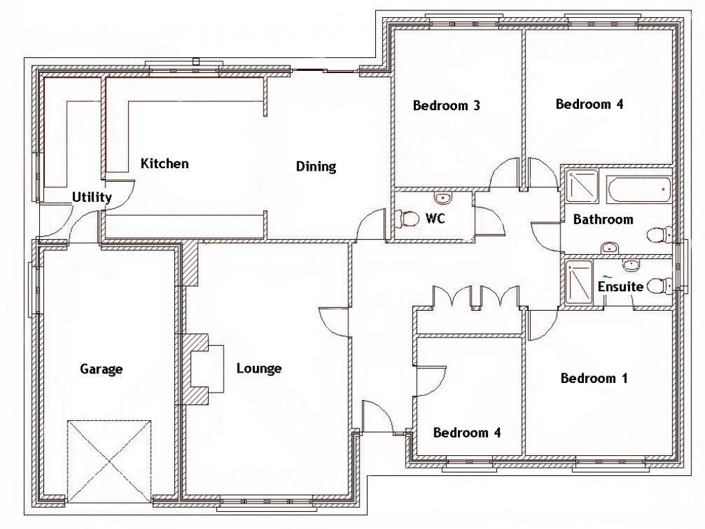 4 Bedroom House with Pool 4 Bedroom House Floor Plans ...