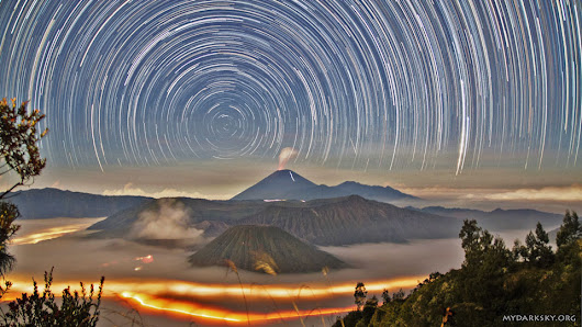 APOD: 2014 August 18 - Star Trails Over Indonesia