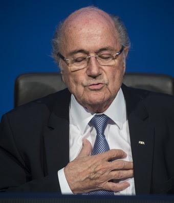Joseph Blatter coletiva Fifa (Foto: Agência AP)