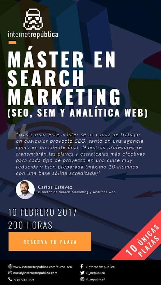 Máster en Search Marketing | SEO, SEM y Analítica web
