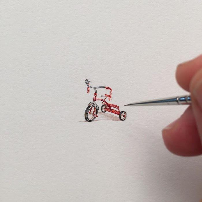 Miniature ad acquerello di Brooke Rothshank