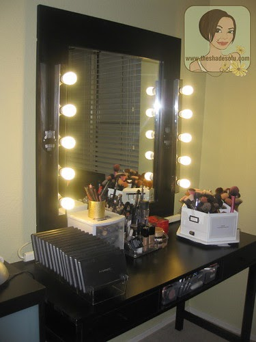 My Makeup Room Tour And Lighted Mirror Vanity In Pictures