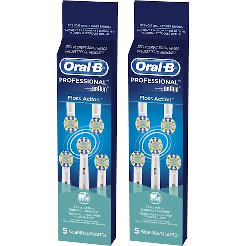 Oral-B Floss Action Replacement Brush Head 5 ct Carded Pack