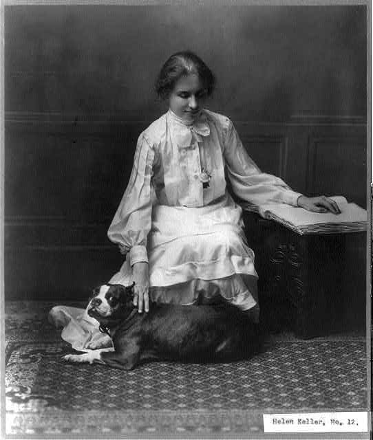 Helen Keller, 1880-1968, Library of Congress, Prints and Photographs Division