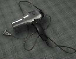Hair Dryer Metal 3D Model
