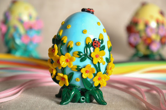 Easter egg with fretwork elements