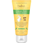 Babo Botanicals Clear Zinc Sunscreen, Fragrance Free - 3 fl oz