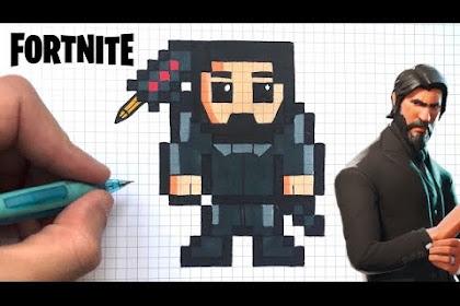 Cuadriculados Dibujos Pixelados De Fortnite