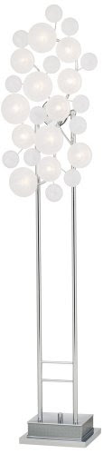 Possini Euro Design Etched Glass Lilypad Floor Lamp Inspectress Dfge