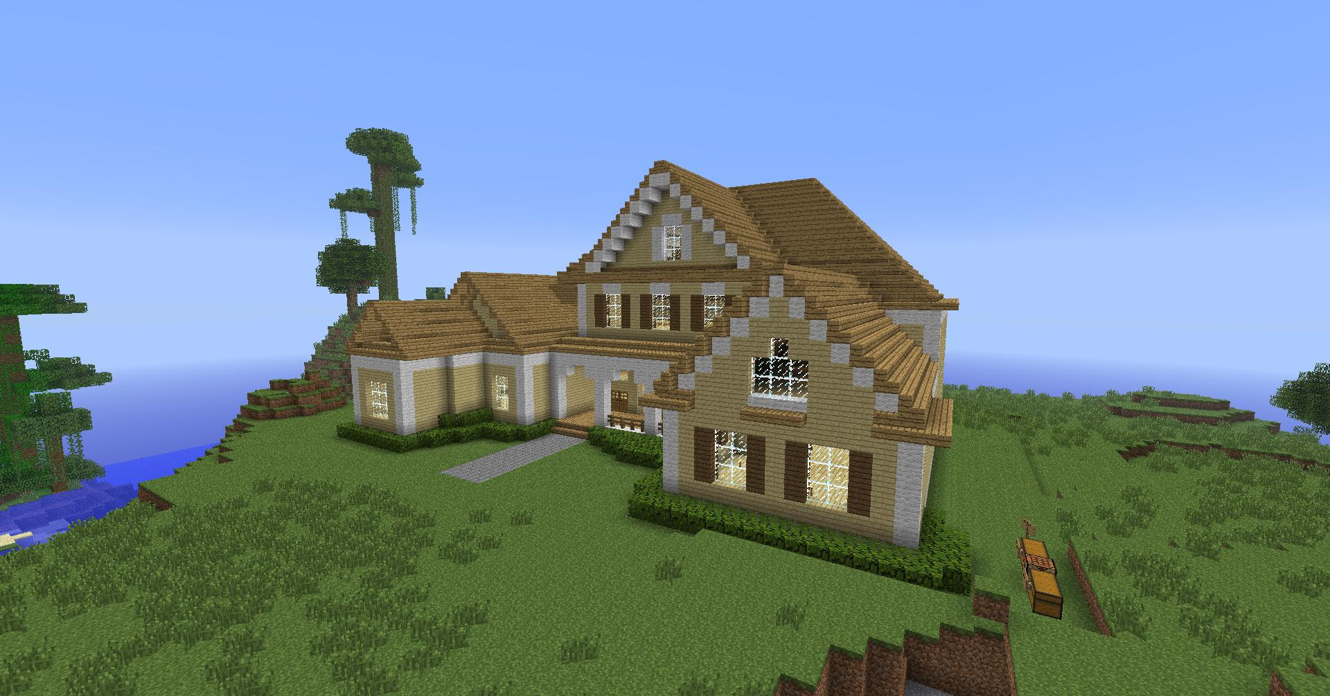 Minecraft House Roof Make a Roof in Minecraft, simple ...