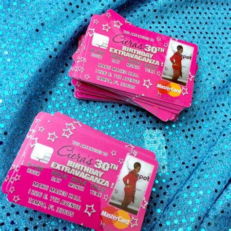 Buy our New Pink Stars Quinceanera Invitations   Credit Card