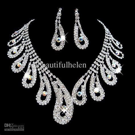 Wholesale Fashion Bridal Jewelry Set Artificial Diamond