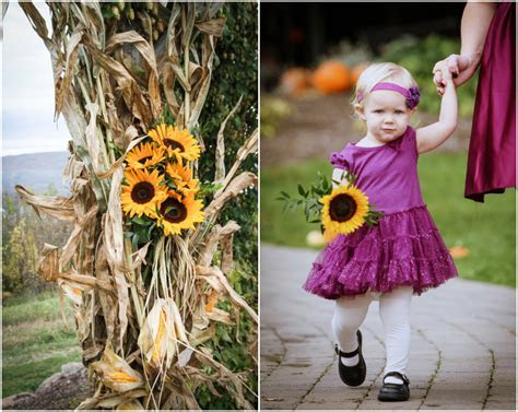 Fall Wedding With Sunflowers   Rustic Wedding Chic