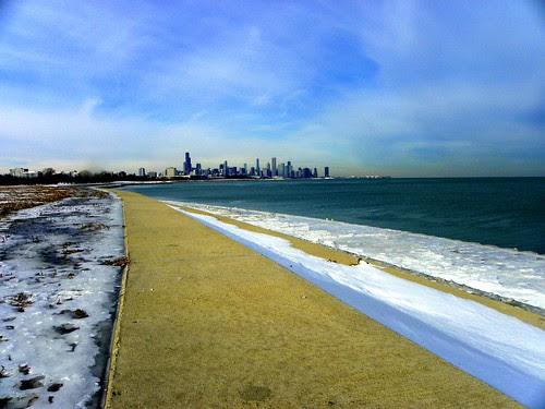 Chicago skyline from Oakland Park