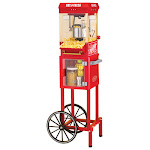 Nostalgia - 10-Cup Vintage Collection Popcorn Cart - Red