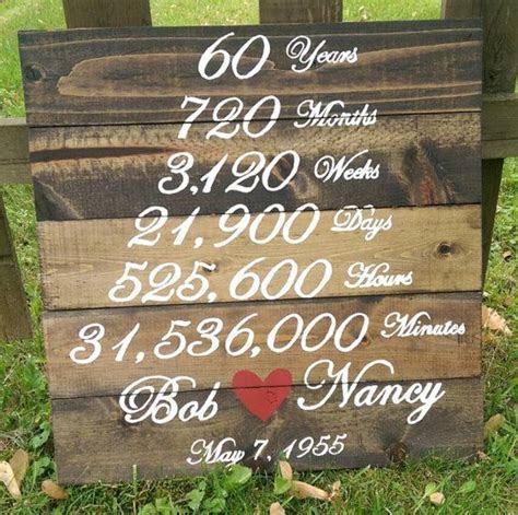 Wedding Anniversary Wood Sign   Years Months Weeks Days