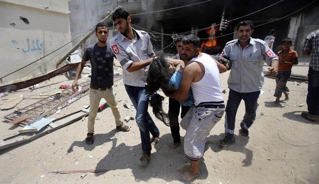 La jornada más sangrienta en Gaza deja más de un centenar de palestinos muertos