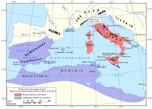 Map of Rome and Carthage at the start of the Second Punic War.svg