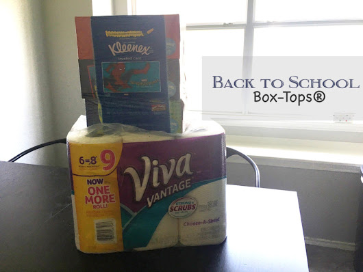 Getting back to school ready with Box-Tops from Kleenex®, Scott® and VIVA® – Behind The Studio