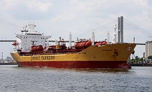 English: Tanker ship Stolt Emerald, Savannah r...
