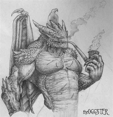 man dragon drawing  theoggster  deviantart