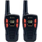 Cobra - MicroTALK 16-Mile, 22-Channel FRS/GMRS 2-Way Radios (Pair) - Red/Black