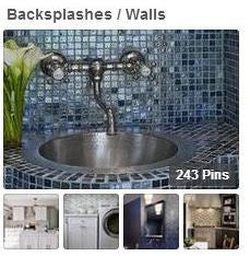 Tiled Backsplash and Wall Pinterest Boards