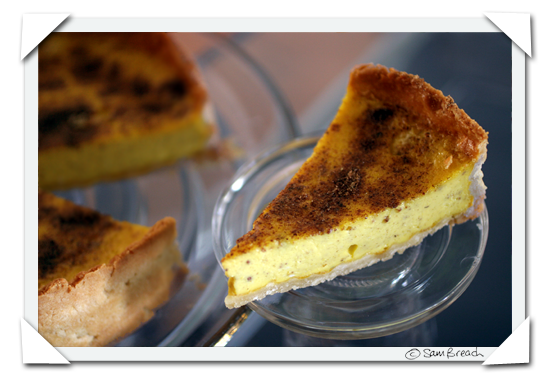 picture photograph of British English style custard tart inspired by Marcus Wareing and Delia Smith 2007 copyright of sam breach http://becksposhnosh.blogspot.com/