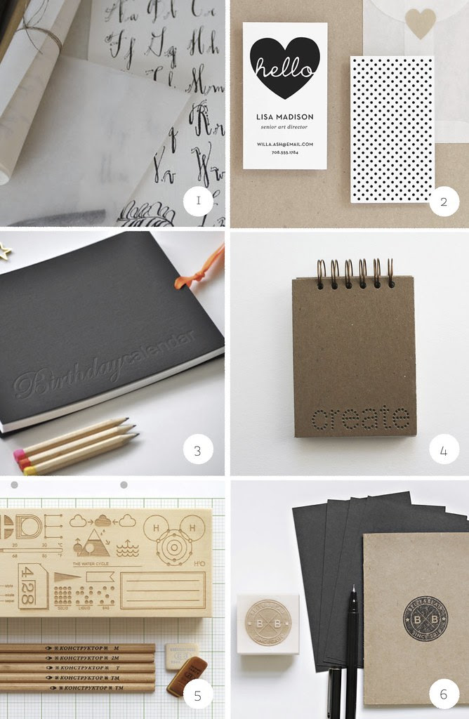 gift guide 1 - for paper lovers