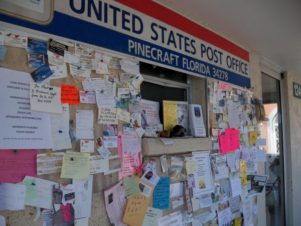 Pinecraft has the only Amish-run post office in the U.S. Here's the local message board (think Craigslist).