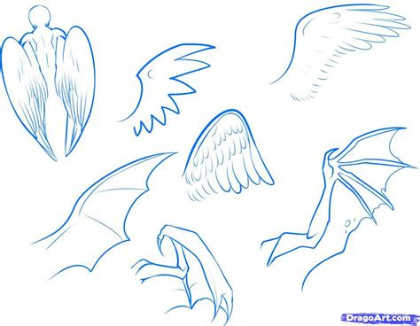 draw anime wings draw  anime angel step  step