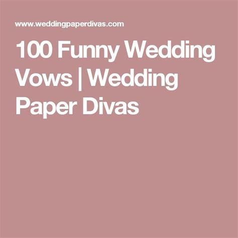 100 Funny Wedding Vows   Happily Ever After   Funny