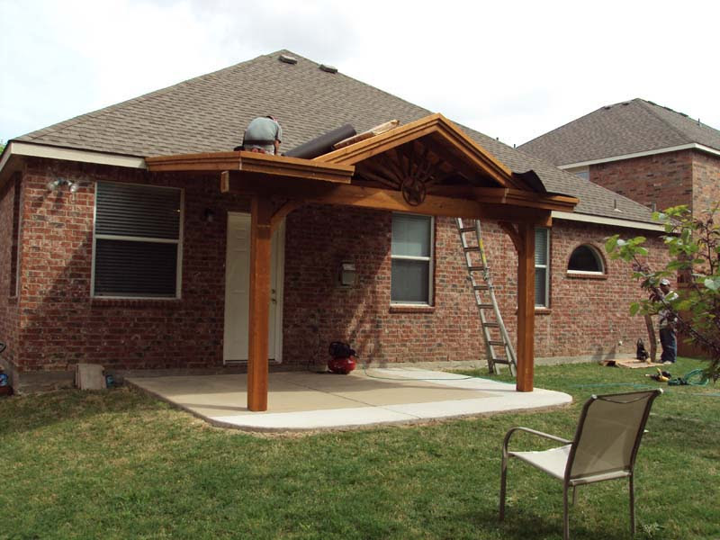 Small Starburst Patio Cover With Gable - Hundt Patio ...