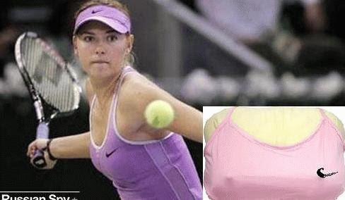 Nữ hoàng quần vợt Nga và chiếc gối ngủ (hình nhỏ)