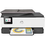 HP - OfficeJet Pro 8025 Wireless All-In-One Instant Ink Ready Printer - Gray/White