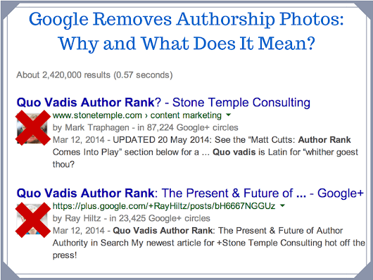 Google Removes Author Photos From Search: Why And What Does It Mean?