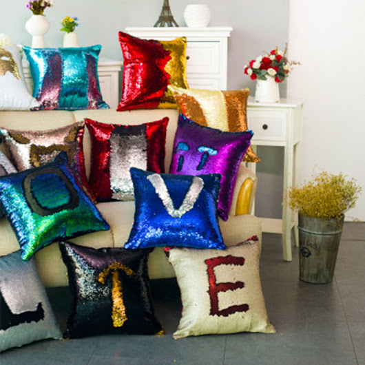 Glitter Throw Pillows Decorative Pillow Covers PillowCase Fashion Chic - free shipping worldwide