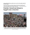 #Andrew Pochter Just uploaded Young Jewish NGO Worker From Chevy Chase, MD Murdered in Alexandria, Egypt...