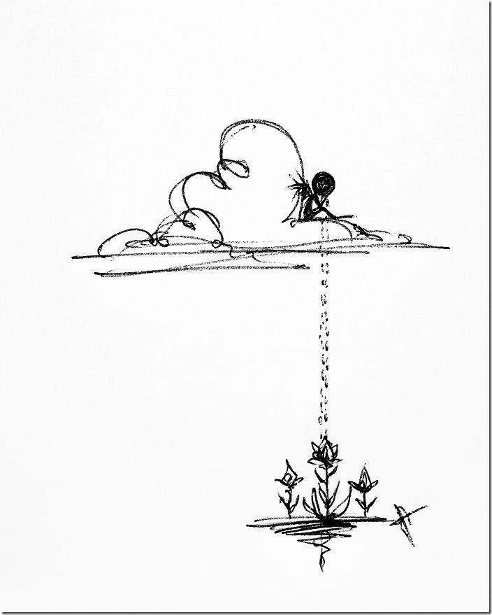 精神病を絵で表現してみたこのイラストの意味がわかると鬱らしい