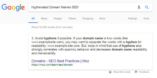 Hyphenated Domain Names SEO Tutorial