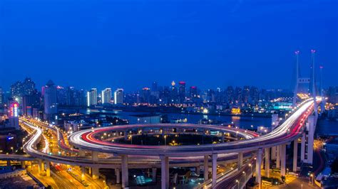 hd wallpaper shanghai highway bridge