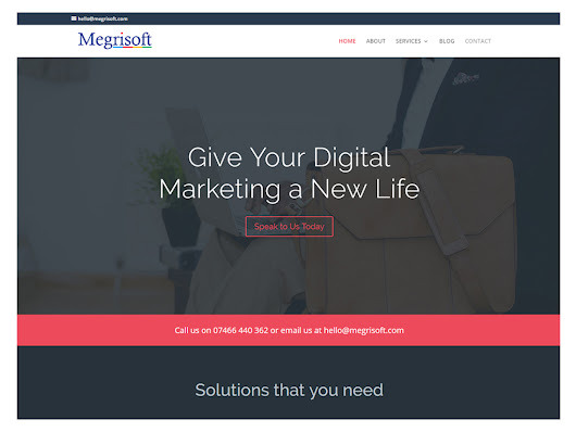 MegrisoftUK Announcing Launch Of New Website - Megrisoft.co.uk