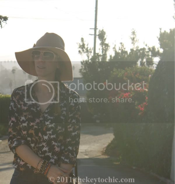H&M horse print shirt, H&M fox handbag, California fashion blog