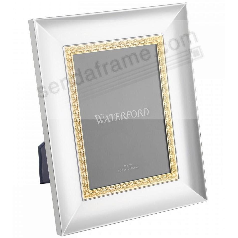 Lismore Lace Patterned 8x10 Goldsilver Frame By Waterford